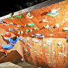 New Feature on the Wall built specifically to hold the Boss!!!<br> <br> Photo from our Backyard Bouldering Comp 2011: <br> <br> http://andylibrande.com/news/2011/10/2011-backyard-bouldering-comp-recap/
