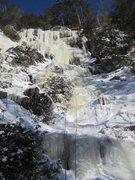 Rock Climbing Photo: Will leading Predateur Volant, Montagne du Trancha...