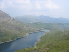 Rock Climbing Photo: Llyn Llydaw seen from the base of Lliwedd (photo b...