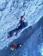 Rock Climbing Photo: On my flash of Kozata Baba.
