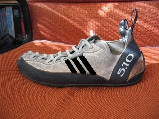 Rock Climbing Photo: Adidas shoe?