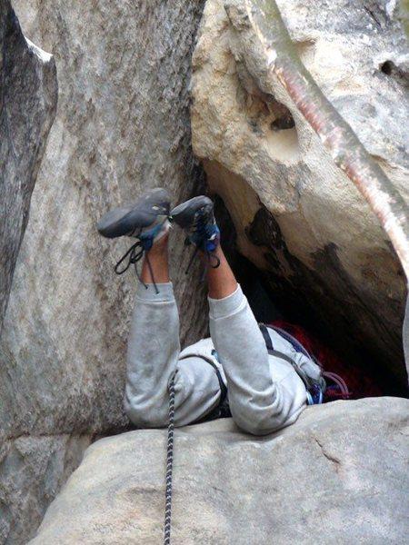 Rock Climbing Photo: P4 window