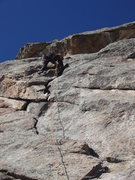 Rock Climbing Photo: Cranking up the well featured crack.