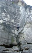Rock Climbing Photo: Whole route, there is 5.11 var over roof