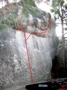 Rock Climbing Photo: Elephant Man Corridor V1 and V2/3