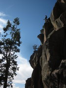 Rock Climbing Photo: Abel Jones tops out on the Wanker Rail. Almost eve...