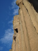 Rock Climbing Photo: Nearing the end of Gold Rush