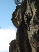 Rock Climbing Photo: Abel Jones finding holds on a quick ascent of the ...
