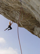 Rock Climbing Photo: Seth Tart on Zeus (5.13b).  Photo by David Hill.