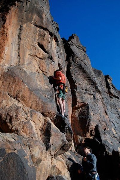 Rock Climbing Photo: Chad attempting his first lead...should have chose...