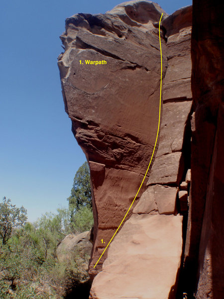 Rock Climbing Photo: Another shot of Warpath