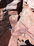 Rock Climbing Photo: Another shot of Cory on Warpath at Indian Springs