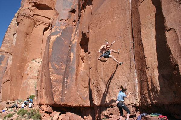 Rock Climbing Photo: onto the next piece