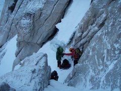 Rock Climbing Photo: Base of headwall
