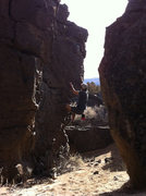 Rock Climbing Photo: Getting going on the steep start of Holy Hand Gren...