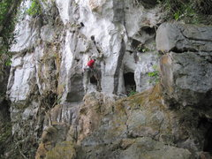 Rock Climbing Photo: Alex, the route maker and first ascentionist, show...