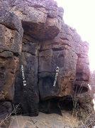 Rock Climbing Photo: Looking at Mekaneck and Skelator while looking sou...