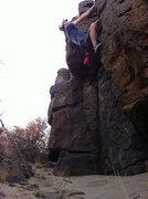 Rock Climbing Photo: Finishing a fun, short climb (Skelator) in the sma...