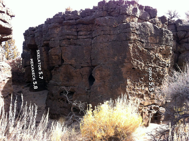 Rock Climbing Photo: Orko is on the right corner of the entrance of thi...