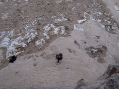 Rock Climbing Photo: Me coming up the pitch.  I re-aided so as not not ...