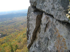 Rock Climbing Photo: !!Warning!! Boulders sticking out.  Some of them a...