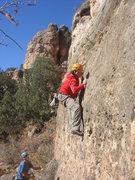 Rock Climbing Photo: Dave Wayne working the crux of Razor Burn.