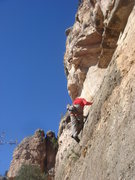 Rock Climbing Photo: Traversing away from the third clip before heading...