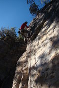 Rock Climbing Photo: The Spirit, 5.10b. Short and steep with powerful t...