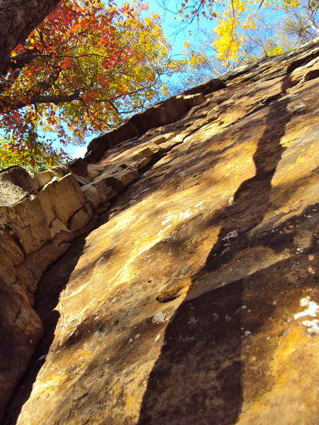 Good shot of the climb