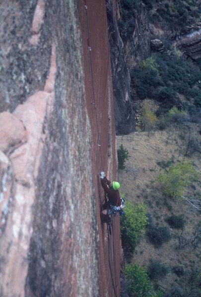 Rock Climbing Photo: BC Following pitch 3