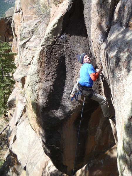 Rock Climbing Photo: Nice Crisp day for an FA