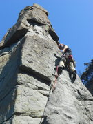 Rock Climbing Photo: leading the 2nd pitch