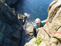 Rock Climbing Photo: Heidi finishing the climb