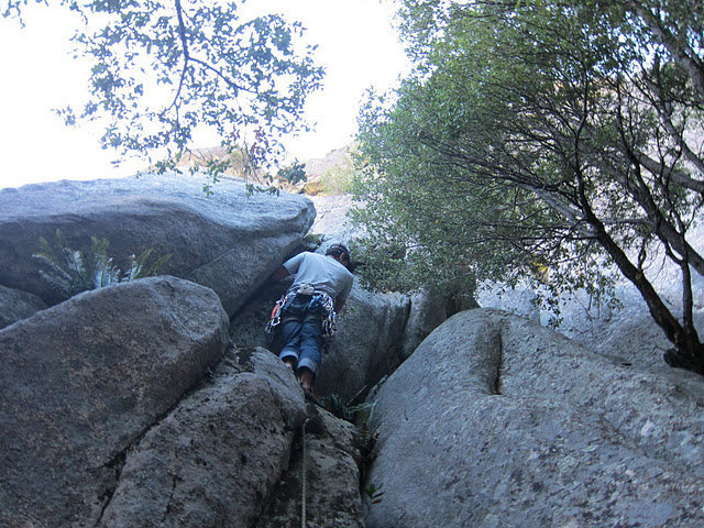 Rock Climbing Photo: A little vegged out on the start , but a great fin...