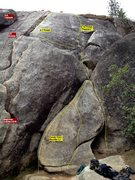 Rock Climbing Photo: Candy Corn boulder and Beginner Cracks at Cosumnes...