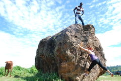 Rock Climbing Photo: Veronica on FA? of Amongst the Bovine