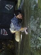 Rock Climbing Photo: Dan Sanscrainte making it look easy