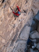 Rock Climbing Photo: Joe leading Smiterheens with Richard belaying. In ...