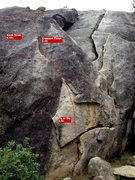 Rock Climbing Photo: Fly or Die next to Beginner Cracks at Cosumnes Riv...