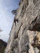 Rock Climbing Photo: Martin smiling at the crux