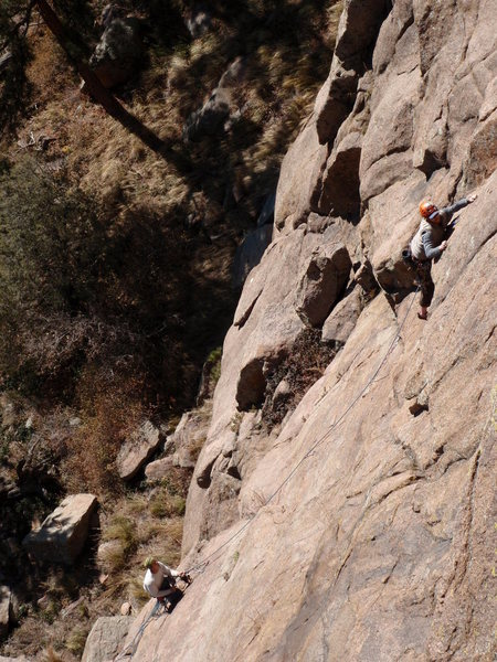 Rock Climbing Photo: Climbers on the 2nd pitch.