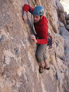 Rock Climbing Photo: Joe, working out the moves down low on Lewd and La...