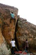 Rock Climbing Photo: Brian Russell climbs Cleopatra.