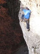 Rock Climbing Photo: Stefan Nitsch clipping the anchor. You can see the...