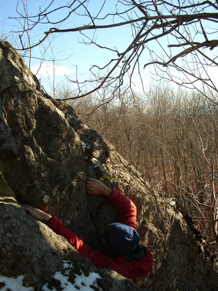 Rock Climbing Photo: Nearing the top out on The Slot