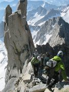 Rock Climbing Photo: Getting ready to descend from Mt. Darwin.