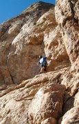 Rock Climbing Photo: Resting below the intimidating crux bulge.