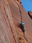 Rock Climbing Photo: Renee finding her groove.