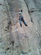 Rock Climbing Photo: Arno Ilgner Sampling the pockets.