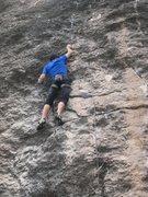Rock Climbing Photo: Working into pitiful sidepulls.